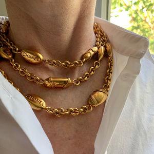 CHANEL Vintage Bean / Bullet Necklace